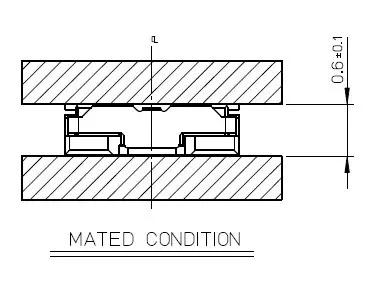 组合高度0.6mm板对板连接器示意图